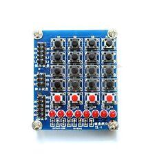 8 Led 4x4 Keypad Matrix Keyboard Buttons LED For MCU PIC ATMEL AVR ATMEGA ARM