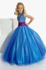 Tiffany 13260 Royal Blue Magenta Girls Pageant Gown Dress 10