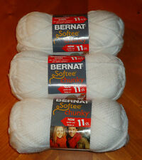 Bernat Softee Chunky Yarn Lot Of 3 Skeins (White #28005)