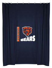 NEW CHICAGO BEARS Logo Jersey Shower Curtain IN STOCK