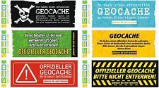 6 x Geocache Hinweis Aufkleber Geocaching Versteck Set
