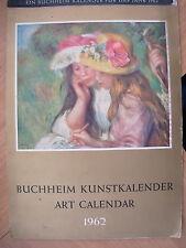 VINTAGE 1962 GERMAN ART CALENDAR BUCHHEIM KUNSTKALENDER