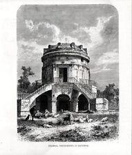 Stampa antica RAVENNA Mausoleo di Teodorico e pastori 1880 Old print Engraving