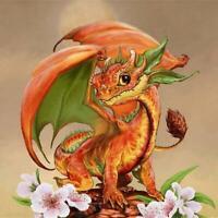 5D DIY Full Drill Diamond Painting Dragon Embroidery Mosaic Craft Kit Decor R1BO