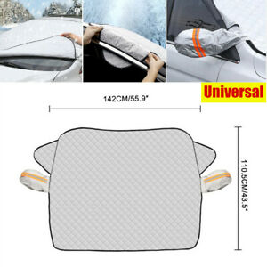 Universal Car Windshield Snow Cover with 2 Layer Protection Sun Shade Protector
