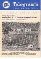 Fussball-Programmheft   64/65   1. Liga    Karlsruher SC - Borussia Neunkirchen