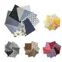 8x Mehrzweck Baumwoll Patchworks Stoffe Nähstoff Patches Bündel DIY Taschen