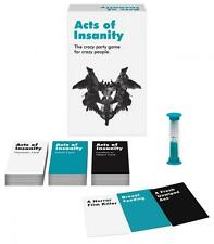 Acts Of Insanity Card Game Crazy Offensive Adult Humor Birthday Party Fun Gift