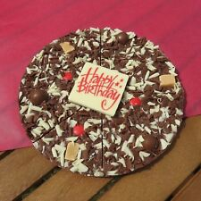 "Gourmet Chocolate Pizza Company - 7"" Happy Birthday Belgian Present Gift in Box"