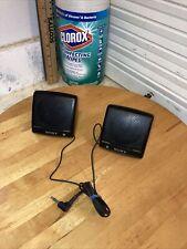 Vintage Sony Walkman SRS-7 Mini Stereo Speaker System Tested & Working