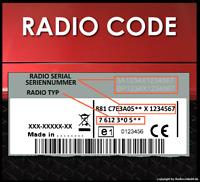 █► código de radio adecuado para Bosch Fiat 500 punto linea ducato panda Stilo doblo