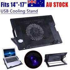 2 USB Adjustable Laptop Cooling Base Cooler Cooling Pad Stand For PC Notebook AU