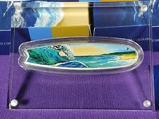 2020 Perth Mint SURFBOARD 2 OZ $2 two dollar SILVER PROOF COIN TUVALU *US SELLER