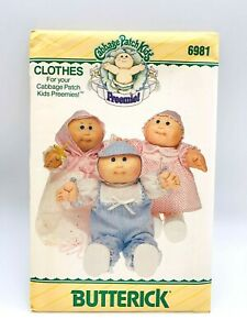 BUTTERICK 6981 Cabbage Patch Preemie Vintage Pattern Uncut