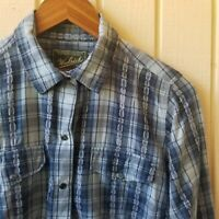 Woolrich Women's Plaid Snap Button Western Long Sleeve Shirt Size Small