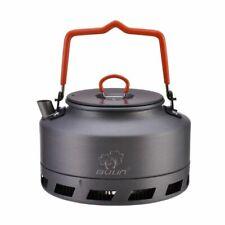 Outdoor Camping Kettle Coffee Tea Pot Ultralight Camp Equipment 1L Hiking Travel