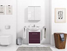 Meuble de salle de bain SET 3-TLG blanc / violet haute brillance PETIT