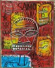 Beautiful painting J. M. Basquiat. Oil on Canvas. Signed.