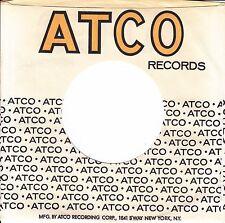Company Sleeve 45 Atco - White W/ Black & Yellow Writing W/ Address