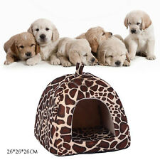 Fashion Leopard Pet Bed Cushion Dog Cat Warm Mat Soft Pad Sleeping Nest House