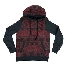 Empyre Men's Small Hoodie Red Geometric and Gray Long Sleeve Pullover Sweatshirt