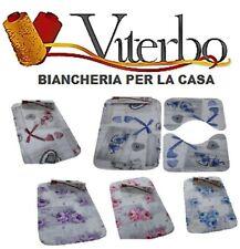 Set 3pz Tappeto Tappetino Bagno Memory Antiscivolo  3D Disegni Shabby e Floreale