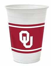 Oklahoma Sooners Beer Pong Plastic Cups Party Tailgating Football (28) 18 Oz.