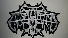 ENSLAVED OLD   SHAPED  WHITE  LOGO   EMBROIDERED BACK PATCH