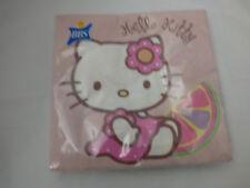 20 Tovaglioli Hello Kitty Cellulosa, No Cloro, Biodegradabili, 33 X 33 Cm