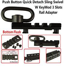 Keymod 3 Slot Picatinny/Weaver Rail Handguard Section With Sling Adapter Rail