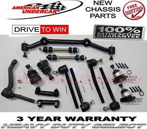Chevrolet Blazer S10 GMC RWD Ball Joint Tie Rod Idler Arm Center Link Kit 96-05