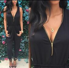 Sexy Hot  Women Ladies Clubwear  Playsuit Bodycon Party Jumpsuit size 12 new