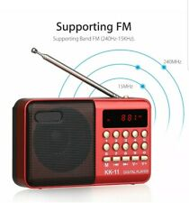 Portable Mini Digital FM Radio Stereo Speaker Rechargeable MP3 Player USB TF A10