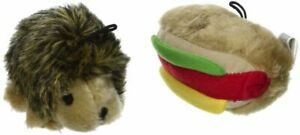 Petmate Booda Zoobilee Hedgehog and Hotdog Plush Dog Toy