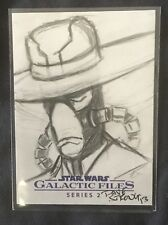 """2013 Topps Star Wars ORIGINAL SIGNED Dave Strong AUTO 1/1 Sketch Card """"CAD BANE"""""""
