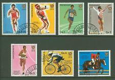 Paraguay A34 1986 used 7v Sports OLYMPICS  Cycling Riding Athletics