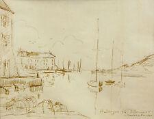 Denis BERMOND (1928) Morbihan Le Moustoir en Arradon Bretagne Peintre officiel