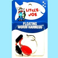 Lindy Little Joe Fluorescent Red Floating Worm Harness Spinner Fishing Bait Rig