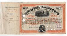 1885 Northern Pacific Railroad Company Stock Certificate - Wm. Rockefeller