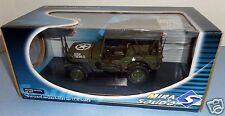 1:18 Mira Solido Diecast WWII US Willys Jeep Canvas Vehicle for 21st Century BBI
