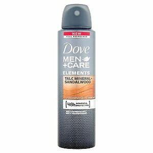 Dove MEN+CARE TALC MINERAL+SANDALWOOD deodorant spray 150ml.