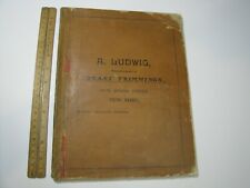 Vintage Ludwig Brass Trimmings Catalog 1900's 148 pgs Ornaments Borders Corners