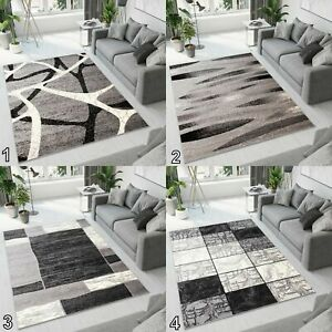 NEW BEAUTIFUL MODERN RUGS TOP DESIGN LIVING ROOM ! Different Sizes ! GREY