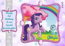 personalised birthday card my little pony daughter grandaughter sister any name