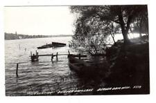 Wi - Beaver Dam Wisconsin Rppc Photo Postcard Lake Eventide Boats Dock