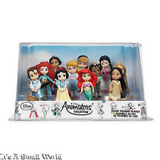 Disney Store Animators' Collection Deluxe Figure Play Set Ariel Belle Tiana NIB