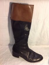 Caprice Black Knee High Leather Boots Size 6.5