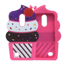 Cute 3D Cherry Ice Cream Silicone Soft Case Back Cover for IPHONE SAMSUNG LG ZTE