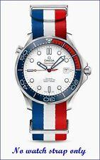 20MM ULTIMATE BOND red/white/blue NATO STRAP & CLASP for  OMEGA DIVER 300