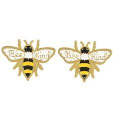 Bee Kind Enamel Pins Cute Honey Badger Brooch Aesthetic Animal Jewelry Gifts Hot